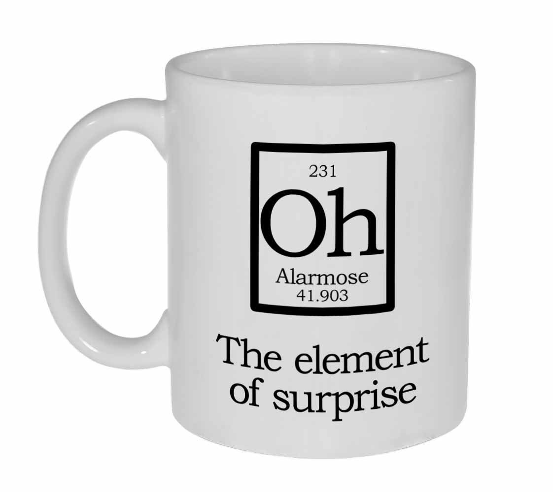 The Element Of Surprise Oh Fake Periodic Table Mug