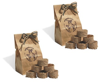 2 bags of Kitty Pucks cat toys - Ecofriendly trendy non toxic cardboard organic catnip - unique great gift for pet lovers