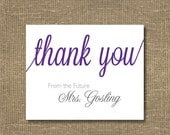 Thank You from the Future Mrs | Free Custom Color | Bridal Shower Thank You Card Set | Personalized Thank You Note Cards | Set of 12 | Funny