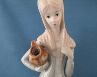 Vintage Llado Style Porcelain Woman Figurine Collectibles Home Decor Nao Zaphit Rosal Figurines