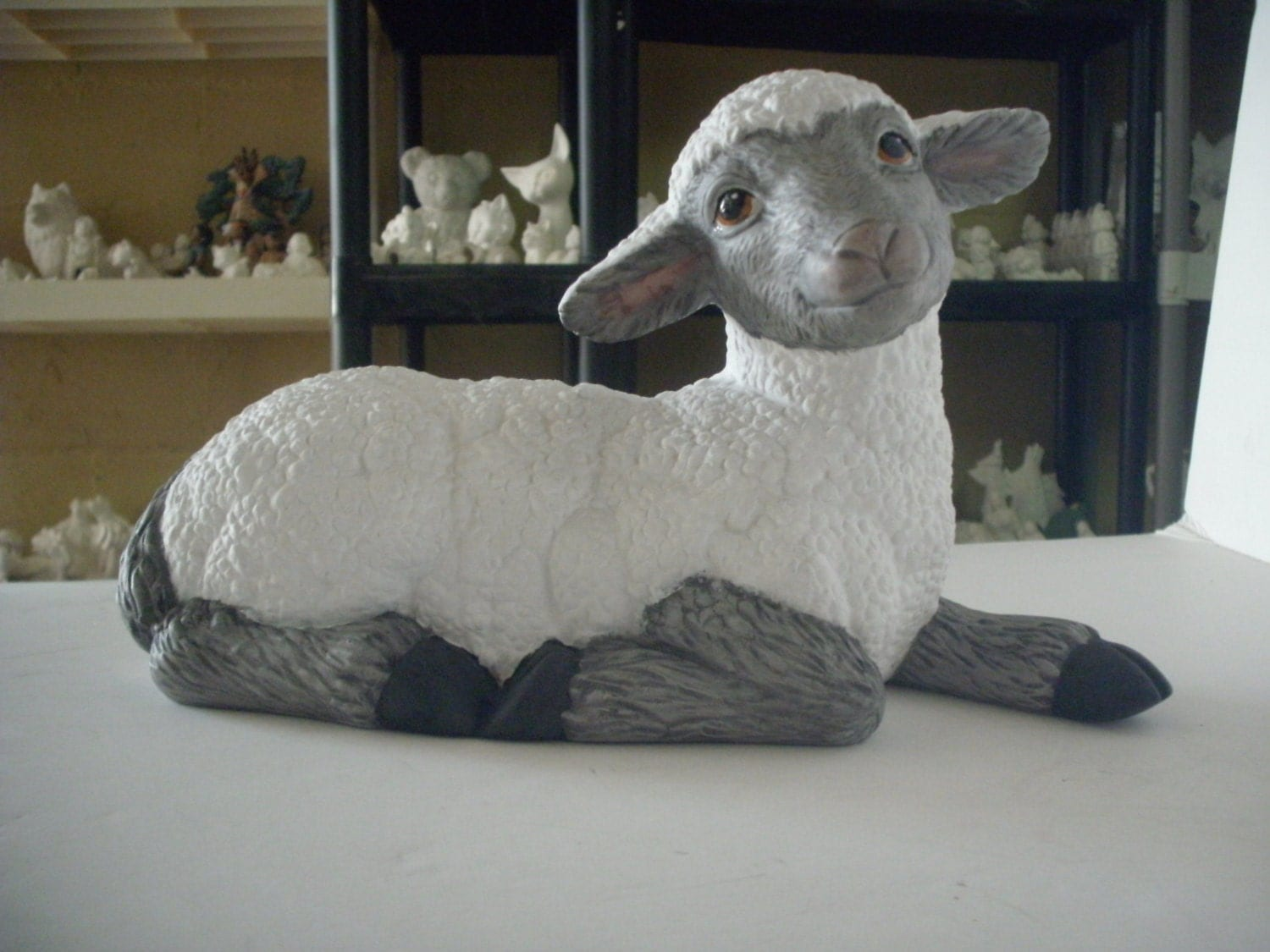 Ceramic Lamb Sheep Easter Lamb Lamb Of God Black Face Lamb