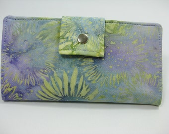 Womens Clutch, Handmade Ladies Multicolored  Wallet,  BiFold Clutch,