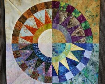 New York Beauty Quilt Block Paper Piecing Pattern - Block S