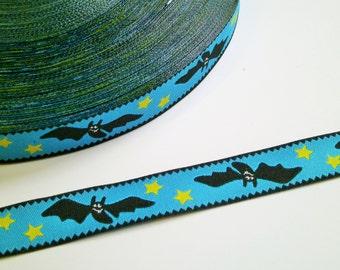 "1 m Woven Ribbon Farbenmix  ""Lovely Bat""  16 mm Design Cherry Picking"