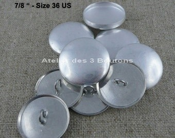 """5 Cover Buttons 7/8"""" (Size 36)"""