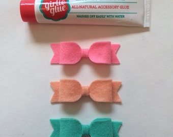 Felt Bows w/ Girlie Glue