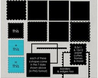 Paper Cutters, Scallops & ZigZags for Digital Scrapbooking