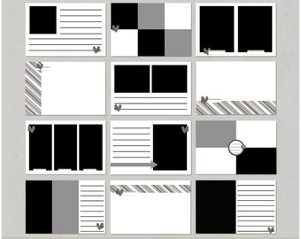 4x6 Pocket Insert or Mini Album Templates for Digital Scrapbooking