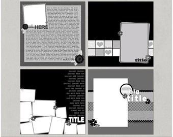 Variety Sample Pack Set 6 12x12 Digital Scrapbooking Templates