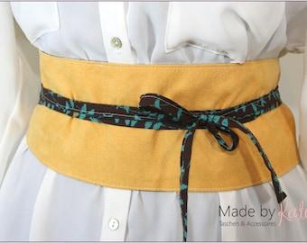belt, obi belt, wrap belt, yellow belt, japanese belt, reversible belt,