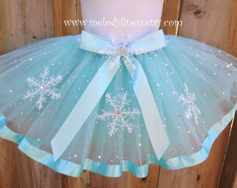 4 layers Frozen ribbon Tutu frozen birthday outfit Elsa tutu frozen tutu elsa outfit frozen snow flake tutu dress up tutu frozen party favor