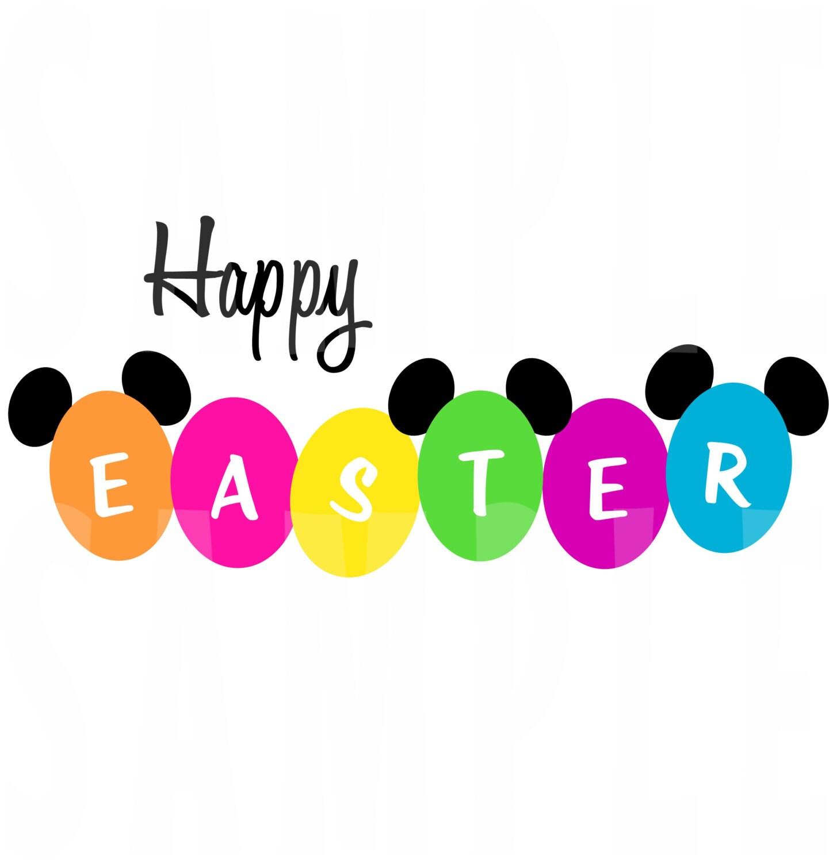 PRINTABLE Disney World Happy Easter Iron-On or Disney Cruise