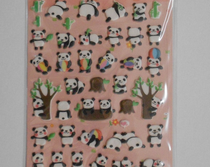 Kawaii Panda Spongy Stickers