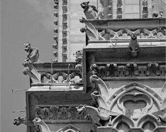 Notre Dame Gargoyles, Paris Photography, Notre Dame Photography, Paris Art, Paris Print, Gargoyle Photography, Gargoyle Print, Gargoyle Art
