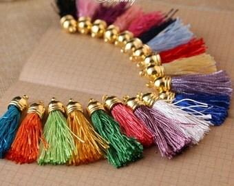 10pcs  tassels - Mixed Colors of Beautiful tassels Charm pendant 45mm