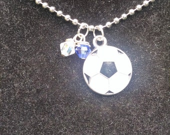 Soccer Necklace with stones ~ Baseball ~Sports