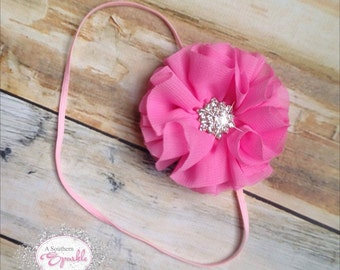 Newborn Ballerina Flower Headband