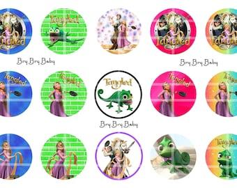 "Tangled Rapunzel pascal 1""  Bottle Cap images BCI"