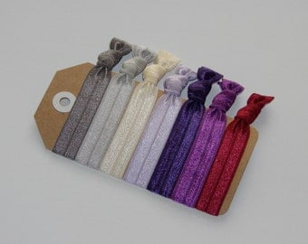 Set of 7 Elastic Hair Ties