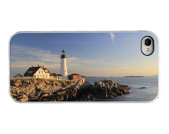Lighthouse iPhone 5 5s SE 4 4s Case Maine Cell Phone Portland Head Lighthouse Cape Elizabeth Maine Phone Accessory Gift Summer Phone Cover