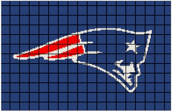 Patriots Crochet Afghan Pattern : New England Patriots NFL Superbowl Crochet by ...