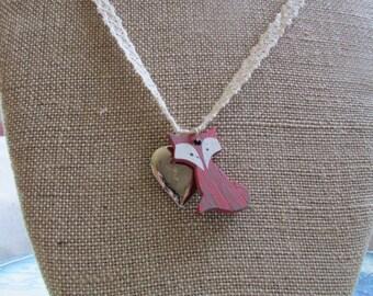 Foxy Silver Heart