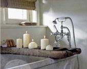 Rustic Bathtub Wood Caddy - Primitive Bathtub Tray -Vintage Tub Tray-Reclaimed Wood Bath Tray- Barn Wood Tub Caddy - Bathroom Decor- Home