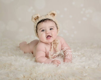 Baby Hat, Teddy Bear Hat, Photography Prop, Photo Prop, Teddy Bear, Bear, Bear Bonnet, Crochet Teddy Bear, Newborn, Baby, Hat, Beanie