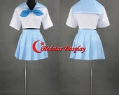 Kill LA Kill Mako Short-Sleeved Uniform Cosplay Costume dress - Custom-made in any size