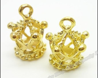 25pcs 13x18mm Crown Charms gold Crown  Pendants