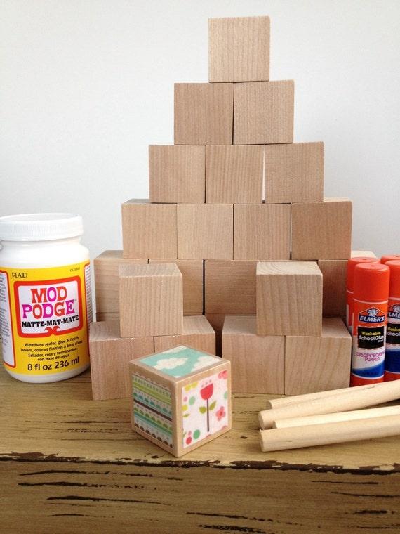 Items similar to garden girl diy wood baby blocks for Child craft wooden blocks