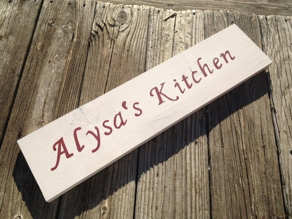 Personalized Kitchen Sign Wooden Kitchen Sign Custom By Pinensign