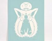 Vintage 1982 Stan Greene Turquoise Salmon Print 92/100 Northwest Coast Native Print