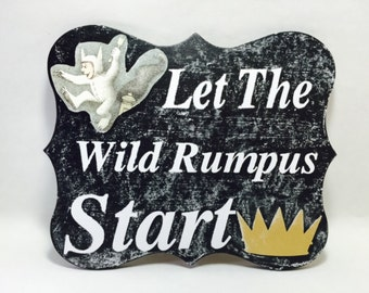 Where The WILD things are Chalkboard Front Door Sign Party Package Nursery baby shower birthday party