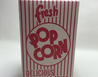 20 red white vintage style popcorn treat boxes Carnival 4th july summer movie night circus party shower