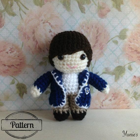 Amigurumi Boy Doll Pattern : Crochet pattern doll: Student Boy Crochet Pattern Amigurumi