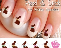 Easter Chocolate Bunny Nail Art Decal Sticker Set - Easter Candy Nail Art
