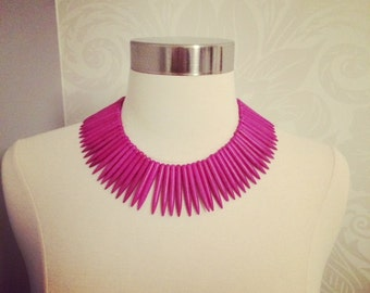 Violet Turquoise Spike Necklace