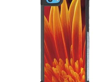 iPhone 5 5s 6 6s 6+ 6s+ SE 7 7+ iPod Touch 5 6 Phone Case, Orange Flower Design, Floral, Nature, Plus