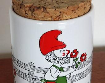 Retro, Kitsch West German Waechtersbach Gnome Storage Jar/Canister