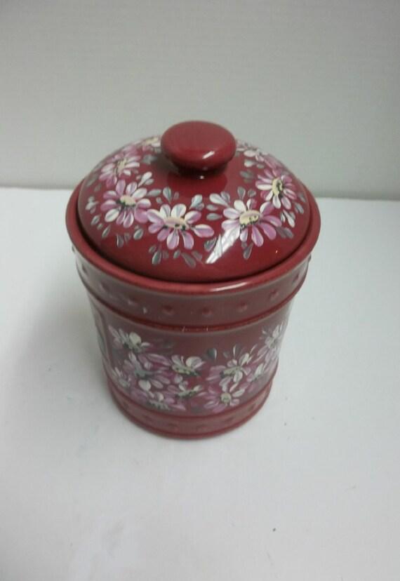 vintage burgundy stonewarekitchen canister jar by pinterest the world s catalog of ideas