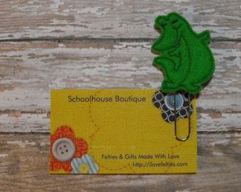 Standing Alligator felt paperclip bookmark, felt bookmark, paperclip bookmark, feltie paperclip, christmas gift, teacher gift