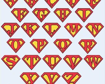 superman alphabet on Etsy, a global handmade and vintage ...