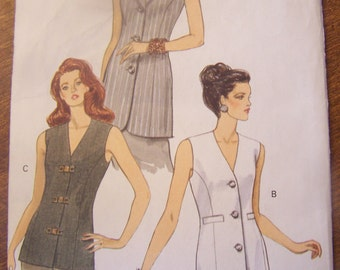 Vogue 8946, Size 8-12, UNCUT sewing pattern, misses, womens top, craft supplies