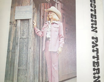 Vintage Western sewing pattern 268, Size 12, UNCUT sewing pattern, Unlined shirt jacket