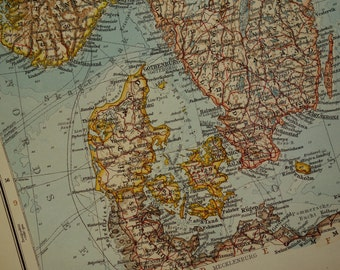 Map Of Sweden Etsy - Sweden big map
