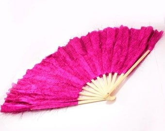 "18"" Foldable Wooden Dancing Hand Fan [pack of 1]"