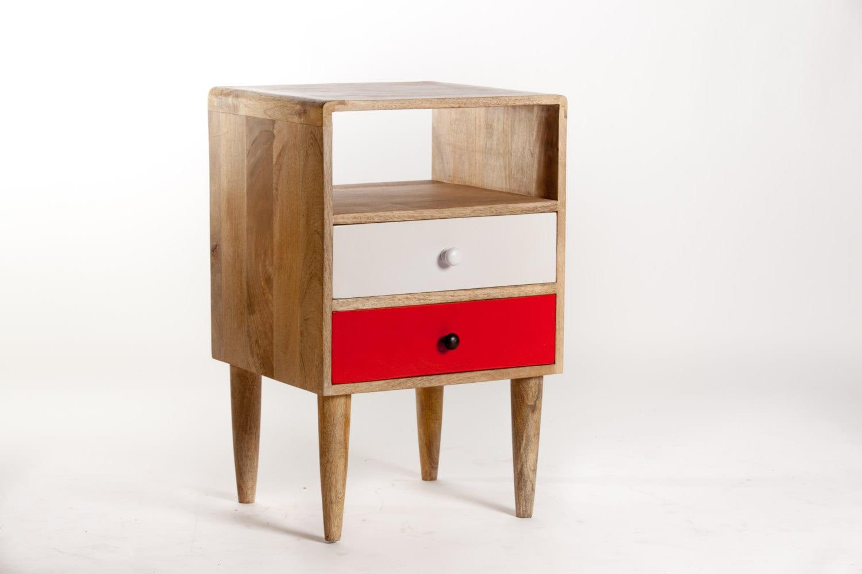 Scandinavian Design Side Tables: Side Table / Scandinavian Design Bedside By Sweetmangofrance