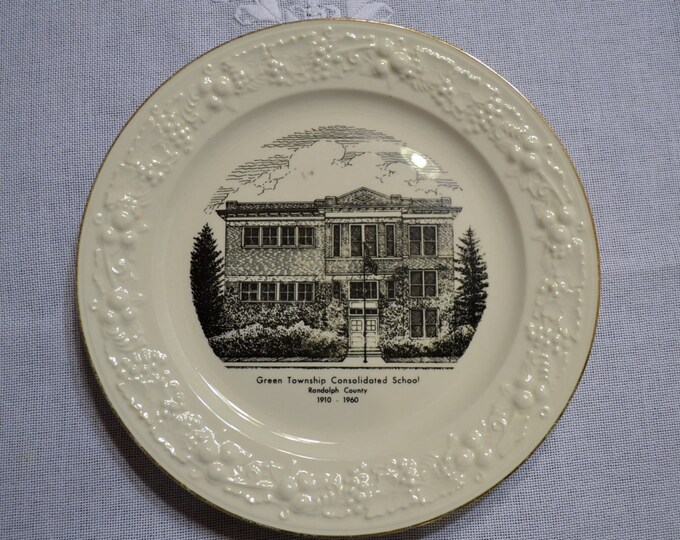 Vintage Commemorative Plate Green Township School Tennessee  Panchosporch
