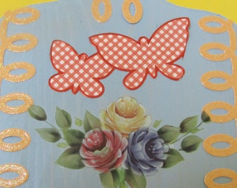 Butterflies, and flowers